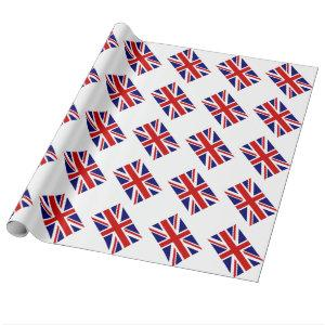 Union jack wrapping paper with British flag