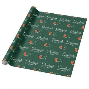 University of Miami Primary | Graduation Wrapping Paper