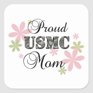 USMC Mom [fl camo] Square Sticker