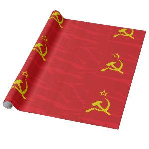 USSR Flag Wrapping Paper