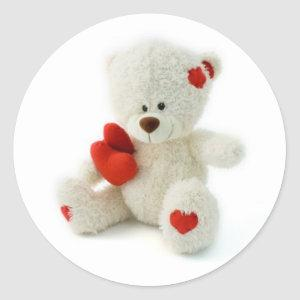 Valentine's Day Teddy Bear Sticker