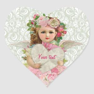 Valentine's Day Angel Heart Sticker