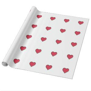 Valentine's Day Red Heart Wrapping Paper