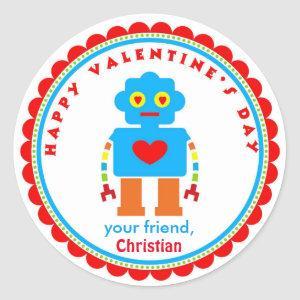 Valentine's Day Stickers Robot Stickers