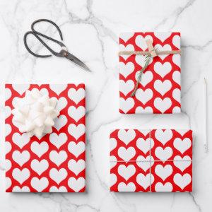 Valentines Hearts Wrapping Paper Sheets