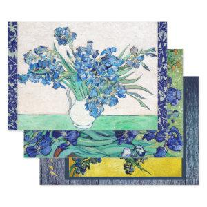 VAN GOGH IRISES HEAVY WEIGHT DECOUPAGE WRAPPING PAPER SHEETS