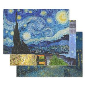 VAN GOGH STARRY NIGHTS HEAVY WEIGHT DECOUPAGE WRAPPING PAPER SHEETS