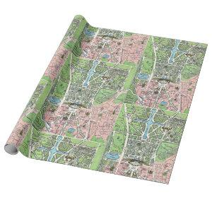 Versailles Map Wrapping Paper