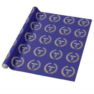Veterinary Medicine Caduceus Symbol Wrapping Paper