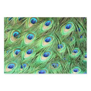 Vibrant Exotic Peacock Feathers Wrapping Paper Sheets