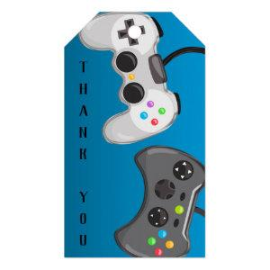 Video Game Controllers Gamer Birthday Party Favor Gift Tags
