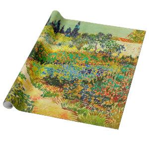 Vincent Van Gogh Garden at Arles Wrapping Paper