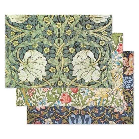 Vines, Birds and Pimpernel Patterns Wrapping Paper Sheets