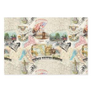 Vintage Americana Wrapping Paper Sheets