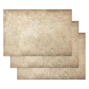 Vintage Antique Texture Sepia Rustic Decoupage Wrapping Paper Sheets
