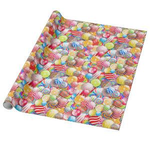 Vintage Birthday or Christmas Candy Wrapping Paper
