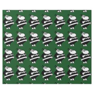 Vintage Black & White Laughing Santa On Green Wrapping Paper