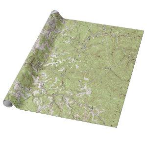 Vintage Charleston West Virginia Topographical Map Wrapping Paper