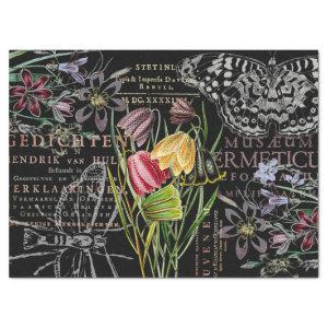 VINTAGE CHECKERED APOTHECARY TULIPS TISSUE PAPER
