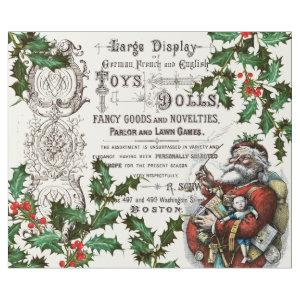 VINTAGE CHRISTMAS WITH OLD TIME SANTA DECOUPAGE WRAPPING PAPER