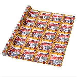 Vintage Circus Poster Wrapping Paper