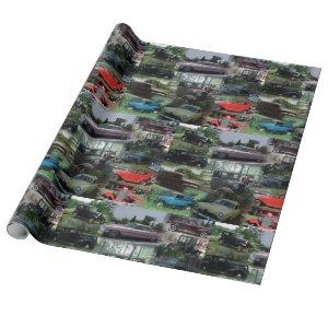 Vintage Classic Cars Wrapping Paper