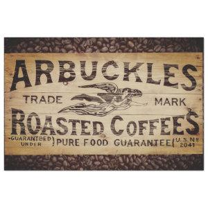 VINTAGE COFFEE SHIPPING CRATE TISSUE PAPER
