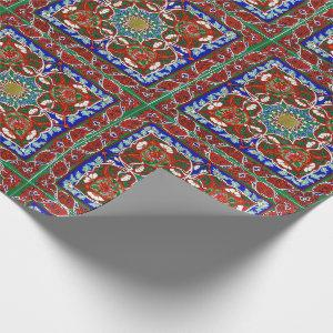 Vintage Decorative Design Pattern Wrapping Paper
