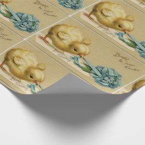 Vintage Easter Chick Wrapping Paper