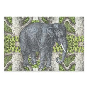 Vintage Elephant Wrapping Paper Sheets