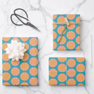 Vintage Fruit Pattern Wrapping Paper