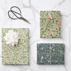 Vintage Green Leaves William Morris  Patterns Wrapping Paper Sheets