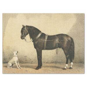 Vintage Horse and Dog Tissue or Decoupage Paper