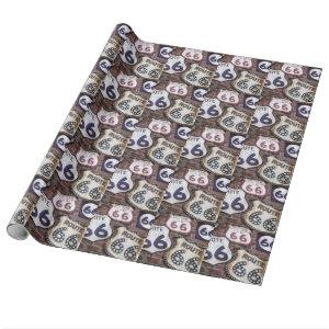 Vintage Iconic Route 66 Wrapping Paper