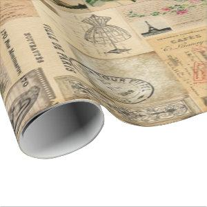 Vintage in Print Wrapping Paper