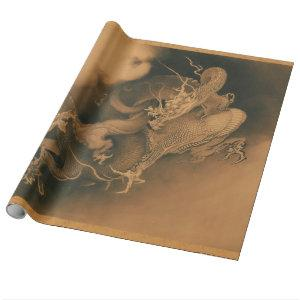 Vintage Japanese Dragon Wrapping Paper