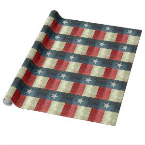 Vintage Lone star state flag of Texas Wrapping Paper
