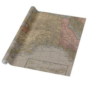 Vintage Map of Alaska (1910) Wrapping Paper
