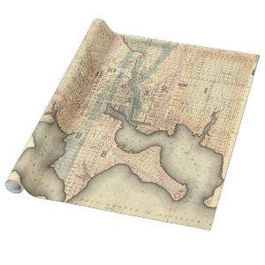 Vintage Map of Baltimore Maryland (1822) Wrapping Paper