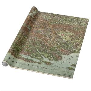Vintage Map of Brooklyn NY (1908) Wrapping Paper