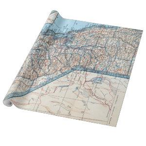 Vintage Map of California (1921) Wrapping Paper
