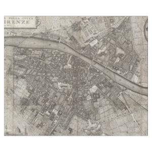 Vintage Map of Florence Italy (1847) Wrapping Paper