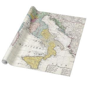 Vintage Map of Italy (1742) Wrapping Paper