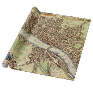 Vintage Map of London (17th Century) Wrapping Paper