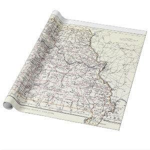 Vintage Map of Missouri (1883) Wrapping Paper