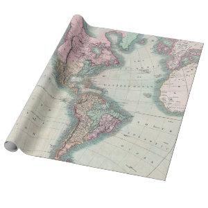 Vintage Map of North and South America 1806 Wrapping Paper