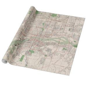 Vintage Map of Portland Oregon (1912) Wrapping Paper