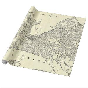 Vintage Map of Seattle (1914) Wrapping Paper