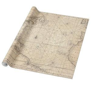 Vintage Map of The Atlantic Ocean (1683) Wrapping Paper