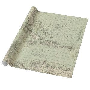 Vintage Map of The Caribbean (1774) Wrapping Paper